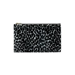 Black&white Leopard Print  Cosmetic Bag (small) by OCDesignss