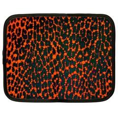 Florescent Leopard Print  Netbook Sleeve (xl) by OCDesignss