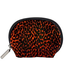 Florescent Leopard Print  Accessory Pouch (small) by OCDesignss