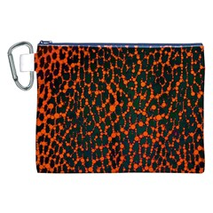 Florescent Leopard Print  Canvas Cosmetic Bag (xxl) by OCDesignss