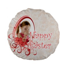 Easter By Easter   Standard 15  Premium Flano Round Cushion    Ds0y956eunem   Www Artscow Com Back