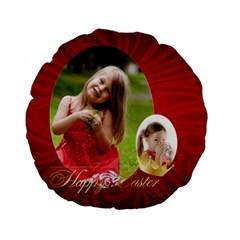 Easter By Easter   Standard 15  Premium Flano Round Cushion    4rkktp47y3yy   Www Artscow Com Back