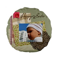 Easter By Easter   Standard 15  Premium Flano Round Cushion    Stwp3iea92od   Www Artscow Com Back