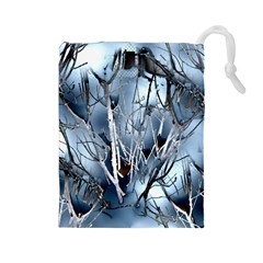 Abstract Of Frozen Bush Drawstring Pouch (large) by canvasngiftshop