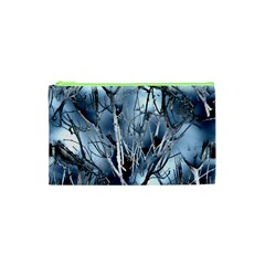 Abstract Of Frozen Bush Cosmetic Bag (xs) by canvasngiftshop