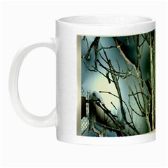 Abstract Of Frozen Bush Glow In The Dark Mug by canvasngiftshop