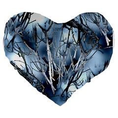 Abstract Of Frozen Bush 19  Premium Heart Shape Cushion by canvasngiftshop