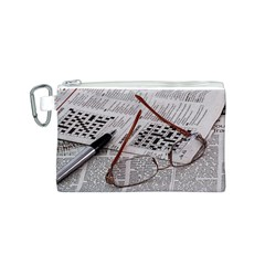 Crossword Genius Canvas Cosmetic Bag (small) by StuffOrSomething