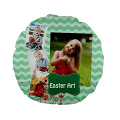 Easter By Easter   Standard 15  Premium Flano Round Cushion    0wb136tgk3he   Www Artscow Com Back