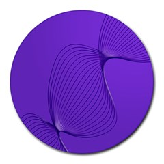 Twisted Purple Pain Signals 8  Mouse Pad (round) by FunWithFibro