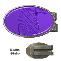 Twisted Purple Pain Signals Money Clip (oval) by FunWithFibro