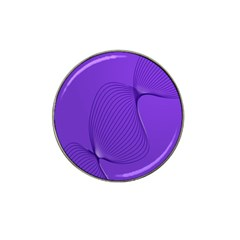 Twisted Purple Pain Signals Golf Ball Marker (for Hat Clip) by FunWithFibro