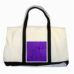 Twisted Purple Pain Signals Two Toned Tote Bag by FunWithFibro