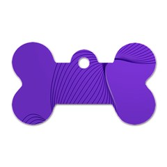 Twisted Purple Pain Signals Dog Tag Bone (two Sided) by FunWithFibro