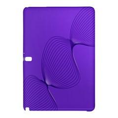 Twisted Purple Pain Signals Samsung Galaxy Tab Pro 12 2 Hardshell Case by FunWithFibro