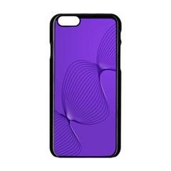 Twisted Purple Pain Signals Apple Iphone 6 Black Enamel Case by FunWithFibro