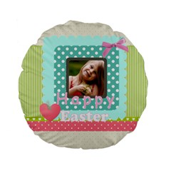 Easter By Easter   Standard 15  Premium Flano Round Cushion    7zegagxvdkof   Www Artscow Com Front