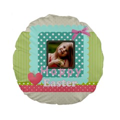Easter By Easter   Standard 15  Premium Flano Round Cushion    7zegagxvdkof   Www Artscow Com Back