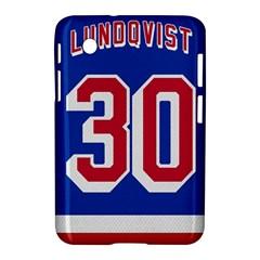 Henrik Lundqvist Jersey Style Device Case Samsung Galaxy Tab 2 (7 ) P3100 Hardshell Case  by blueshirtdesigns