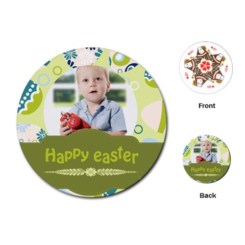 Easter By Easter   Playing Cards (round)   Zqoof0v6i90k   Www Artscow Com Front