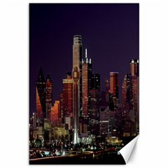 Dallas Skyline At Night Canvas 12  X 18  (unframed) by StuffOrSomething