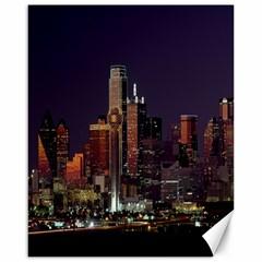 Dallas Skyline At Night Canvas 16  X 20  (unframed) by StuffOrSomething