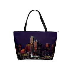 Dallas Skyline At Night Large Shoulder Bag by StuffOrSomething