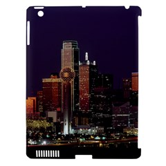 Dallas Skyline At Night Apple Ipad 3/4 Hardshell Case (compatible With Smart Cover) by StuffOrSomething