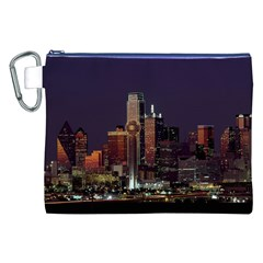 Dallas Skyline At Night Canvas Cosmetic Bag (XXL) by StuffOrSomething