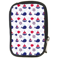 Nautical Sea Pattern Compact Camera Leather Case by StuffOrSomething