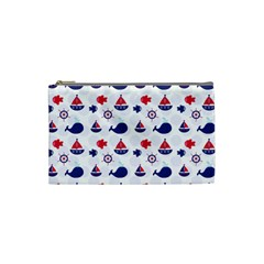 Nautical Sea Pattern Cosmetic Bag (Small) by StuffOrSomething
