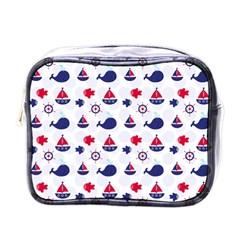 Nautical Sea Pattern Mini Travel Toiletry Bag (one Side) by StuffOrSomething