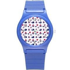 Nautical Sea Pattern Plastic Sport Watch (small) by StuffOrSomething