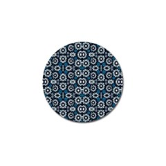 Floral Print Seamless Pattern In Cold Tones  Golf Ball Marker 10 Pack by dflcprints
