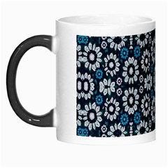 Floral Print Seamless Pattern in Cold Tones  Morph Mug by dflcprints