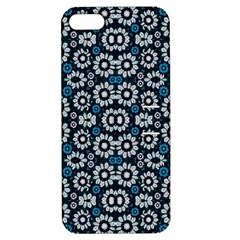 Floral Print Seamless Pattern In Cold Tones  Apple Iphone 5 Hardshell Case With Stand by dflcprints