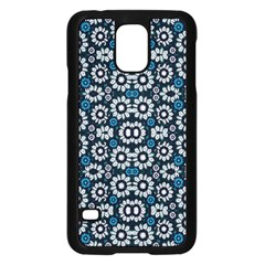 Floral Print Seamless Pattern In Cold Tones  Samsung Galaxy S5 Case (black) by dflcprints