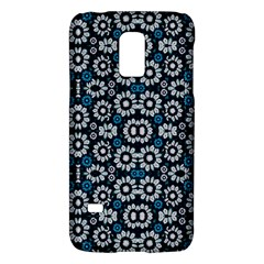 Floral Print Seamless Pattern In Cold Tones  Samsung Galaxy S5 Mini Hardshell Case  by dflcprints