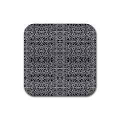 Cyberpunk Silver Print Pattern  Drink Coaster (square) by dflcprints
