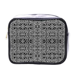 Cyberpunk Silver Print Pattern  Mini Travel Toiletry Bag (one Side) by dflcprints