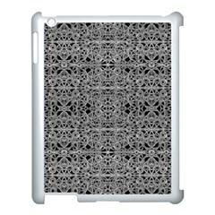 Cyberpunk Silver Print Pattern  Apple Ipad 3/4 Case (white) by dflcprints
