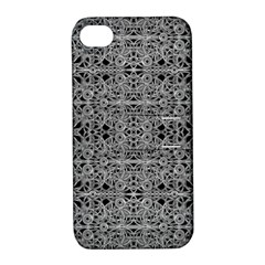 Cyberpunk Silver Print Pattern  Apple Iphone 4/4s Hardshell Case With Stand by dflcprints