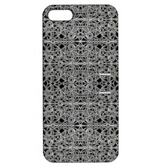 Cyberpunk Silver Print Pattern  Apple Iphone 5 Hardshell Case With Stand by dflcprints