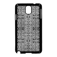 Cyberpunk Silver Print Pattern  Samsung Galaxy Note 3 Neo Hardshell Case (black) by dflcprints