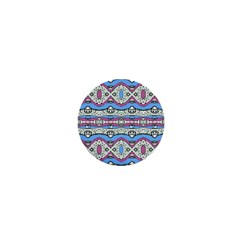 Aztec Style Pattern In Pastel Colors 1  Mini Button Magnet by dflcprints