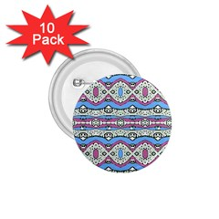 Aztec Style Pattern In Pastel Colors 1 75  Button (10 Pack) by dflcprints