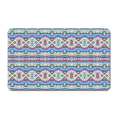 Aztec Style Pattern In Pastel Colors Magnet (rectangular) by dflcprints