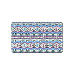Aztec Style Pattern In Pastel Colors Magnet (name Card) by dflcprints