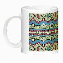 Aztec Style Pattern In Pastel Colors Glow In The Dark Mug by dflcprints