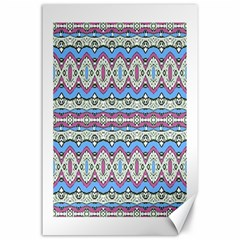 Aztec Style Pattern In Pastel Colors Canvas 24  X 36  (unframed) by dflcprints